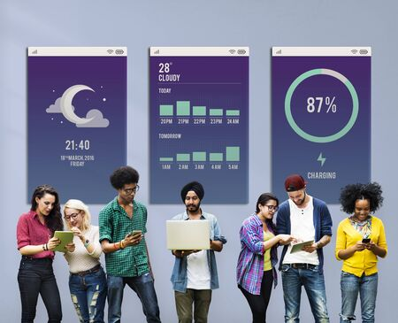 Weather Report Concept Affichage application numérique