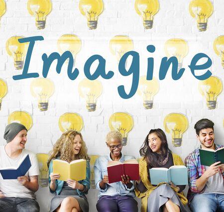 envision: Imagine Vision Inspiration Creativity Dream Big Concept Stock Photo