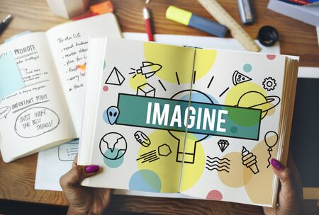 visualise: Imagine Creative Thinking Vision Dream Expect Concept