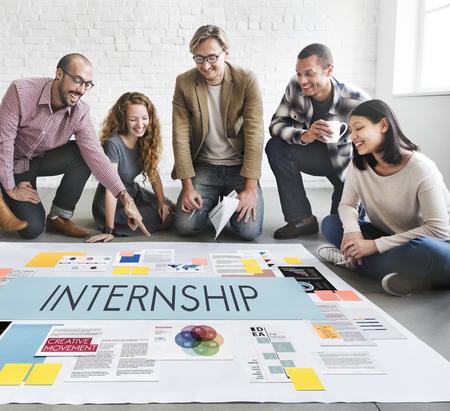 internship: Internship Management Temporary Position Concept