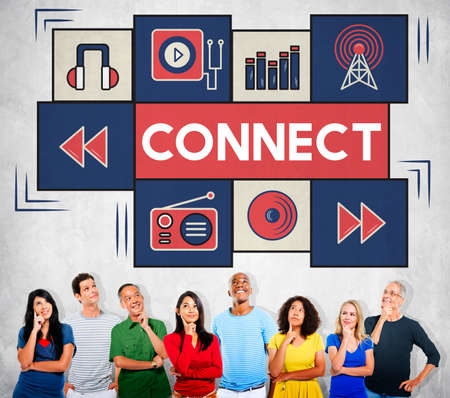 Connect Music Digital Audio Technology Concept Stock Photo