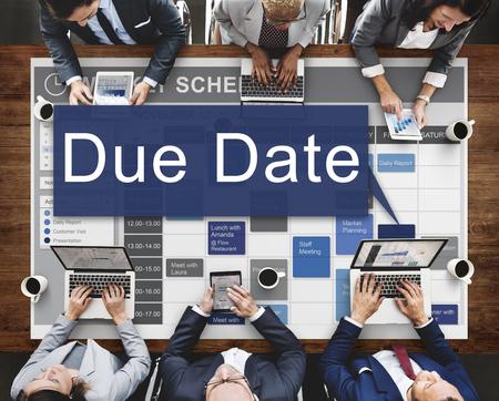 anticipation: Due Date Appointment Deadline Time Anticipation Concept
