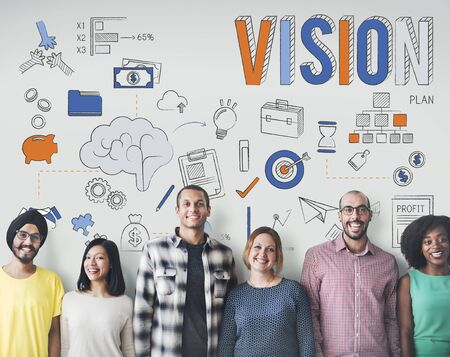 inspiration: Vision Aspiration Motivation Inspiration Concept Stock Photo