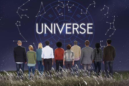 bang: Universe Abstract Bang Galxary Infinity Science Concept Stock Photo