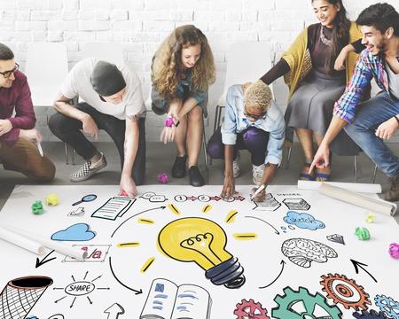 프로젝트 관리 전략 프로세스 계획 조직 개념 스톡 콘텐츠