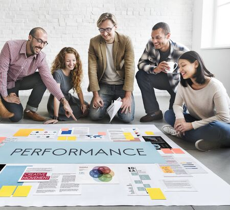 fulfilment: Performance Accomplishment Fulfilment Concept Stock Photo