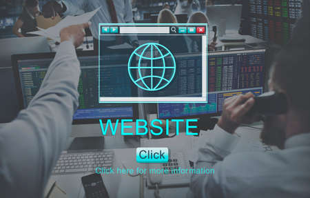 homepage: Website Browsing Internet Homepage Concept Stock Photo