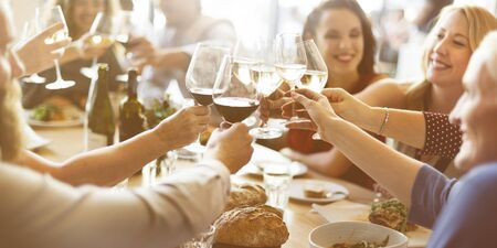 family and friends: Brunch Choice Crowd Dining Food Options Eating Concept