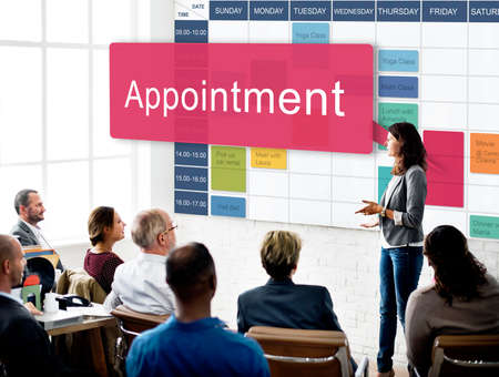 assigning: Appointment Schedule Meeting Plan Arrangement Concept