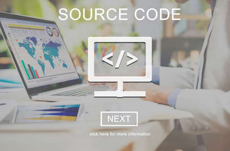 decode: Source Code Binary Computer Data Internet Concept