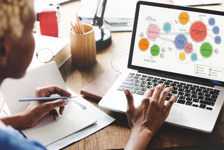 online business: Office Floor Plan Sketch Drawing Concept