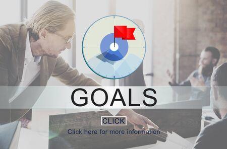 aspiration: Goals Success Aim Aspiration Concept Stock Photo