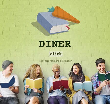 cook book: Diner Cook Book Meal Preparation Concept
