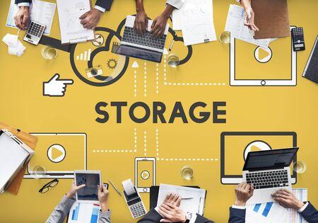 storage: Storage Cloud Connection Devices Technology Concept