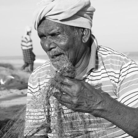 fishery: Indian Fisherman Kerela India Fishery Gulf Man Concept