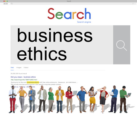 business ethics: Business Ethics Moral Integrity Honesty Trust Concept Stock Photo