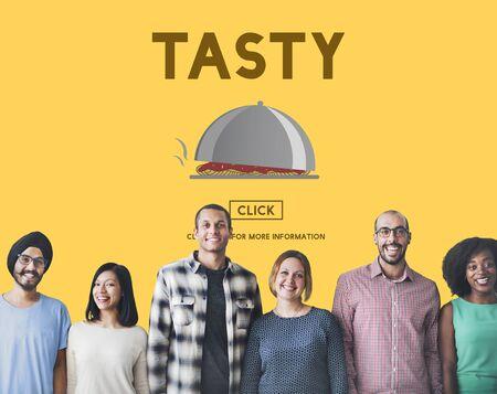 fresh taste: Tasty Taste Eating Fresh Spicy Concept Stock Photo