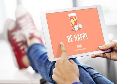 Be Happy Lifestyle Freizeit Genießen Sie Konzept Standard-Bild