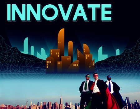 innovative concept: Innovate Innovative Architecture Skyscraper Structure Concept Stock Photo