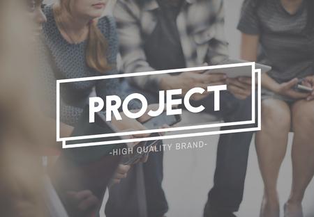 venture: Project Plan Strategy Management Task Venture Concept Stock Photo