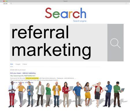 referral marketing: Referral Marketing Referal Advertisement Client Concept
