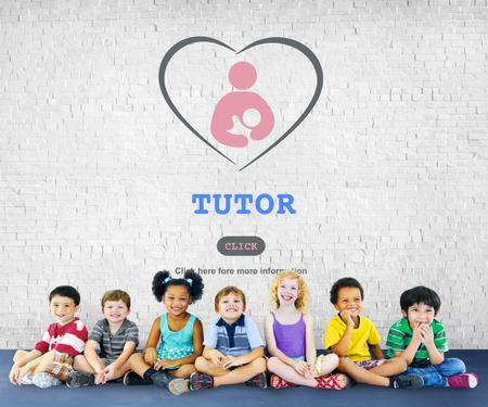 tutor: Concepto de Inteligencia Tutoría Educación de entrenamiento para tutores Foto de archivo