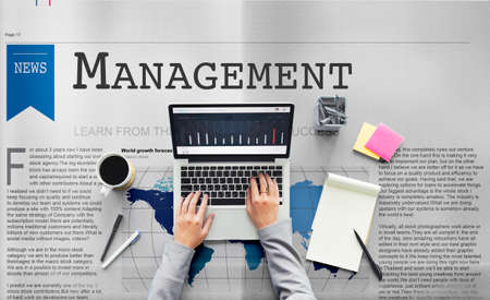 business roles: Management Strategy Organization Coaching Concept Stock Photo