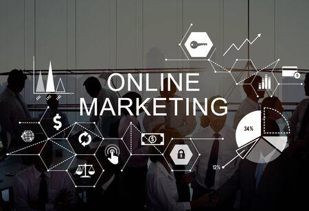 Online Marketing Publicidad Branding Concepto Estrategia