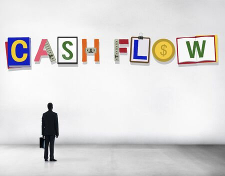 standing up: Cash Flow Money Currency Economy Finance Investment Concept Stock Photo