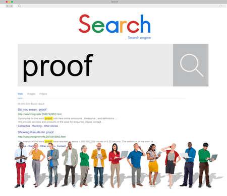 confirmacion: Prueba de Certificación Confirmación pruebas de validación del concepto Foto de archivo