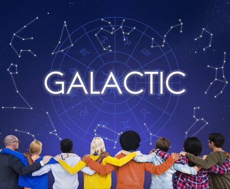 galactic: Galactic Atmosphere Cosmos Energy Exploration Concept Stock Photo