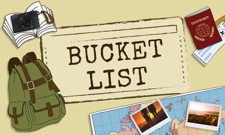 aspirations: Bucket List Experience Inspiration Motivation Aspirations Concept