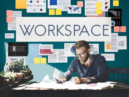 workroom: Document Marketing Strategy Business Concept Stock Photo