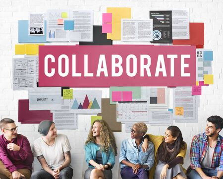 collaborate: Collaborate Agreement Cooperation Partners Concept