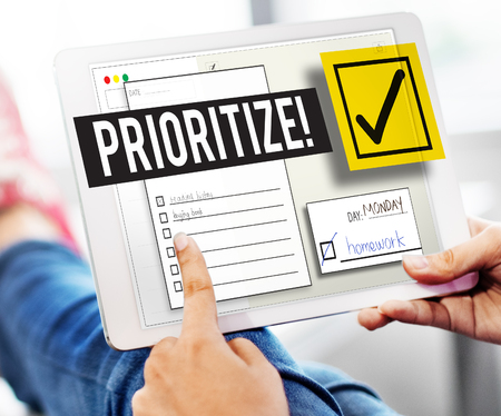 reminder: To Do List Time Management Reminder Prioritize Concept Stock Photo