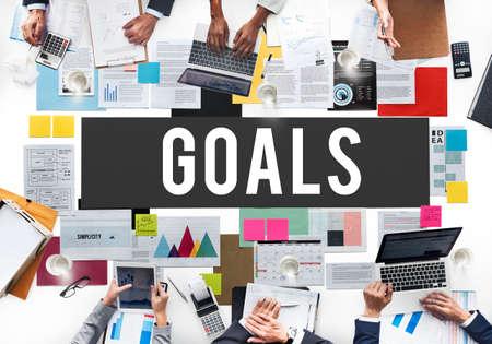 aspiration: Goals Aim Aspiration Dreams Inspiration Vision Concept Stock Photo