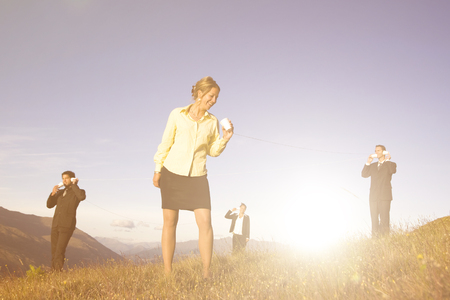 personas comunicandose: Concepto de la gente de negocios la comunicaci�n a nivel mundial.