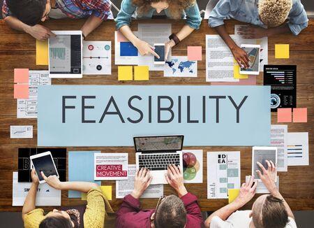 feasibility: Feasibility Reasonable Potential Useful Concept Stock Photo