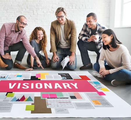 idealistic: Visionary Aspirations Creativity Imagination Concept