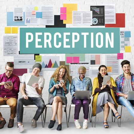 percepci�n: La percepci�n de la conciencia Insight Al ver visi�n del concepto de cerebro Foto de archivo