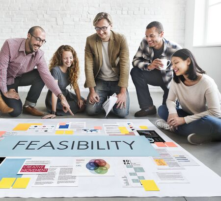 feasible: Feasibility Reasonable Potential Useful Concept Stock Photo
