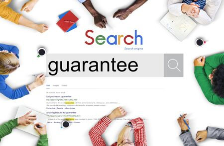 Guarantee Commerce Insurance Promise Service Concept Stock Photo