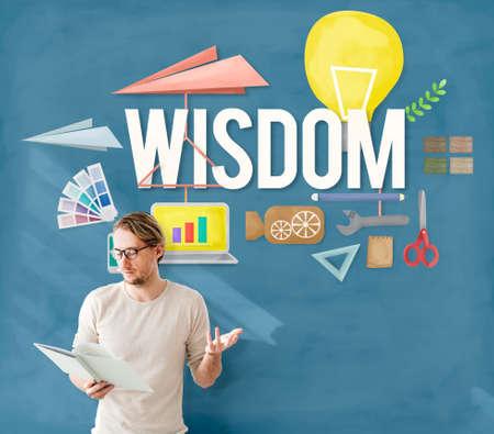 perceptive: Wisdom Knowledge Intelligence Education Insight Concept Stock Photo