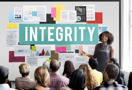 moral: Integrity Ethics Loyalty Moral Motivation Respect Concept Stock Photo
