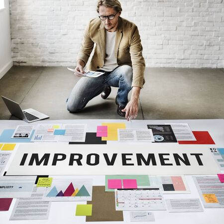 refine: Improve Innovation Progress Reform Better Concept Stock Photo