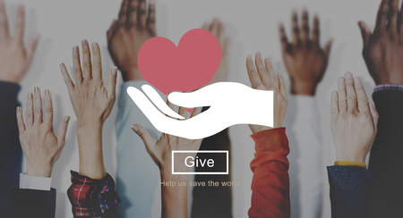 philanthropy: Heart Love Giving Charity Donate Concept