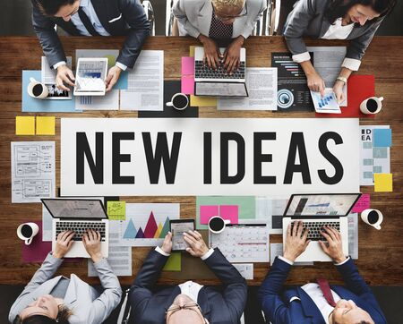 objective: New Ideas Design Objective Proposition Vision Concept Stock Photo