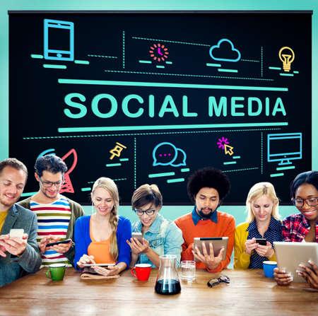 conection: Social Media Communication Conection Internet Concept Stock Photo
