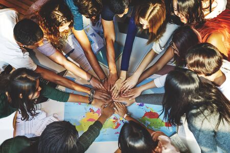 solidarity: Classmate Solidarity Team Group Community Concept Stock Photo