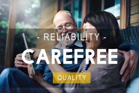 carefree: Carefree Reliability Quality Peace Life Living Concept